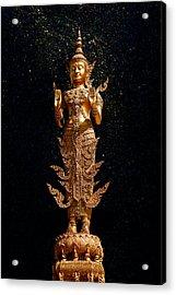 Gold Buddha  Acrylic Print by Bou Lemon