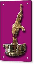 Gold Buggatti Mascot Acrylic Print by Jack Pumphrey