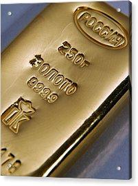 Gold Bullion Acrylic Print by Ria Novosti