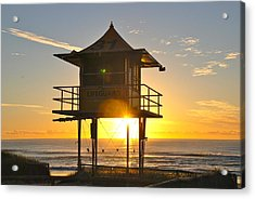 Acrylic Print featuring the photograph Gold Coast Life Guard Tower by Eric Tressler