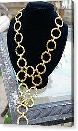 Gold Daisy Chain Acrylic Print by Susan Geluz