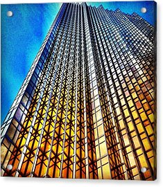 Gold Fade Acrylic Print by Christopher Campbell