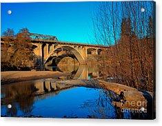 Gold Hill Bridges Acrylic Print by Jim Adams