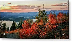 Acrylic Print featuring the photograph Gold Hill Sunset by Albert Seger
