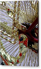 Gold Low Rider Spokes Acrylic Print by Tam Graff