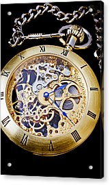 Gold Pocket Watch Acrylic Print by Garry Gay