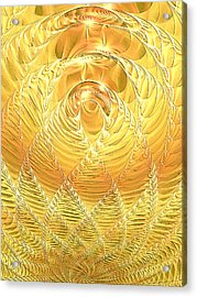 Acrylic Print featuring the digital art Gold Pressed Latinum by Lea Wiggins