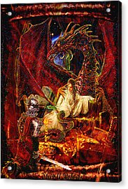 Acrylic Print featuring the painting Gold To Free The Queen by Steve Roberts