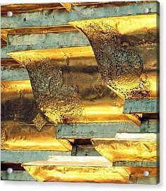 Gold..always Believe In Your Acrylic Print