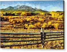 Golden Autumn Acrylic Print by Jeff Kolker