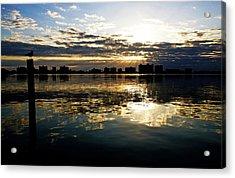 Golden Bayside Acrylic Print