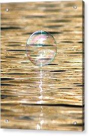 Golden Bubble Acrylic Print