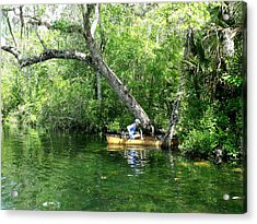 Golden Canoe Launch Acrylic Print by Marilyn Holkham