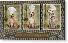 Golden Chef's Acrylic Print by Susan Candelario