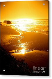 Golden Coast Acrylic Print by Jeremiah Hutchison