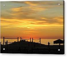 Golden Coast Sunset Acrylic Print