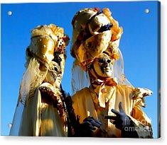 Golden Couple Of Venice Acrylic Print