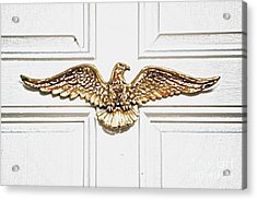 Golden Eagle Americana Door Decor French Quarter New Orleans Colored Pencil Digital Art Acrylic Print
