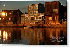 Golden Evening Acrylic Print by Adrian LaRoque