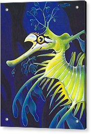 Golden Filigree Acrylic Print by Sym