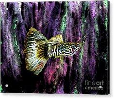 Golden Fish Acrylic Print by Mario Perez