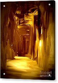 Golden Future Acrylic Print by Julie Lueders