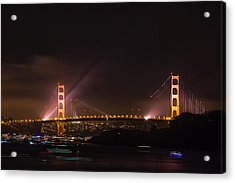 Golden Gate 75th - After The Fireworks Acrylic Print