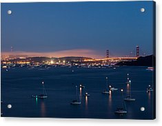 Golden Gate 75th Fireworks The Gathering Acrylic Print