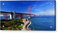 Golden Gate Bridge 1. Acrylic Print by Laszlo Rekasi