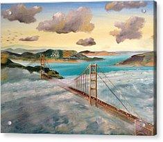 Golden Gate Bridge Acrylic Print by Biren