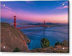 Golden Gate Bridge Acrylic Print by Eyal Nahmias
