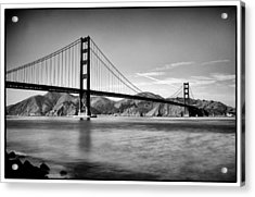 Golden Gate Bridge Acrylic Print by Tanya Harrison