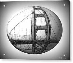 Golden Gate S.f. Acrylic Print by Rene Avalos