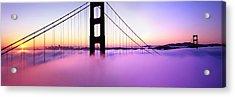 Golden Gate Sunrise Acrylic Print by Steve Munch