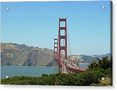 Golden Gate Acrylic Print by Wendi Curtis