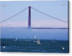 Acrylic Print featuring the photograph Golden Gate Windsurfers by Don Schwartz