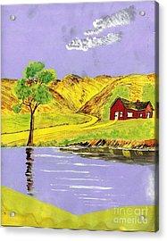 Golden Getaway Acrylic Print