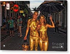 Golden Girls Of Bourbon Street  Acrylic Print by Kathleen K Parker