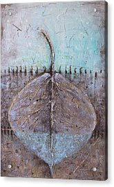 Acrylic Print featuring the painting Golden Leaf by Lolita Bronzini