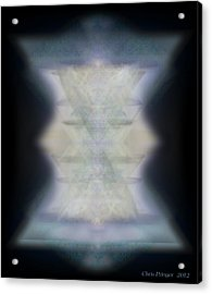 Golden Light Chalices Emerging From Blue Vortex Myst Acrylic Print by Christopher Pringer