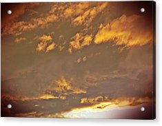 Golden Lit Sky After The Rain Acrylic Print by Lee Yang