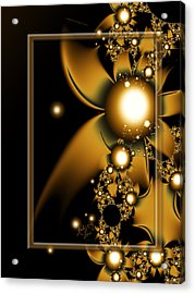 Golden Luxury Acrylic Print