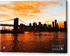 Golden Memories Acrylic Print
