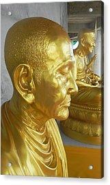 Golden Monk Acrylic Print by Jarrod Faranda
