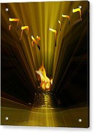 Golden Prayers Acrylic Print