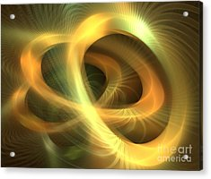 Golden Rings Acrylic Print by Kim Sy Ok