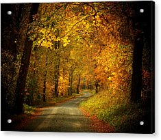 Golden Road Acrylic Print by Joyce Kimble Smith
