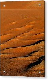 Golden Sand Acrylic Print