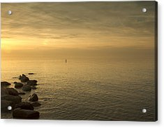 Golden Sea Acrylic Print by Bob Retnauer
