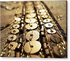 Golden Sequins Highway Acrylic Print by Sumit Mehndiratta